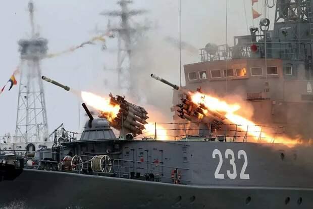 Стрельбы Черноморского флота ВМФ Российской Федерации. Источник изображения: