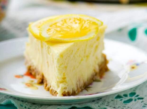 Лимонный чизкейк (с выпечкой)