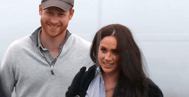 Меган и Гарри впервые замечены вместе после побега из дворца