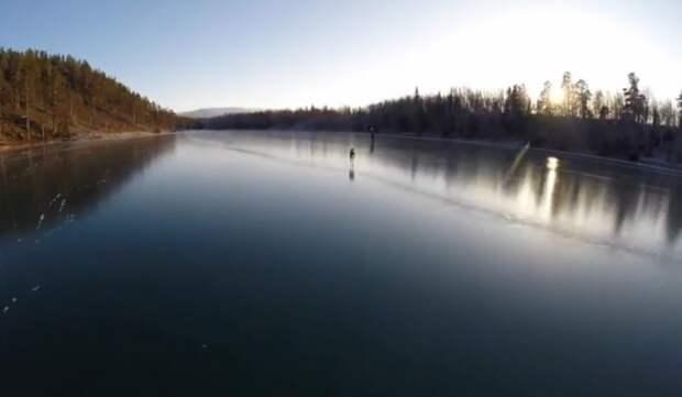 Кристально чистый лед на озере Стуршён в Швеции Чистый лед, зима, озеро, стуршён в швеции, чистый лед на озере