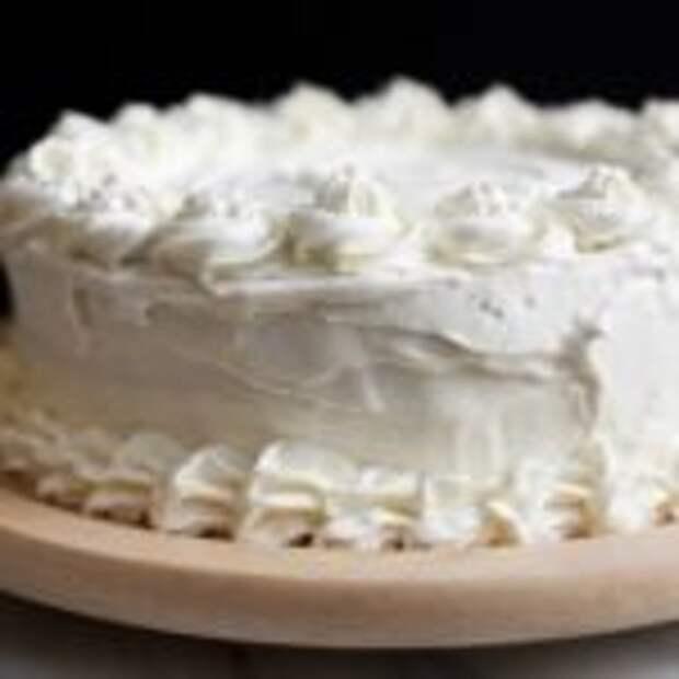 Простой торт со сливочным кремом