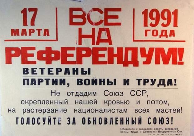 Большинство областных и городских советов, организаций ветеранов партии, войны и труда призывали голосовать за сохранение СССР.