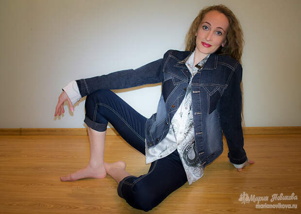 Джинсовая куртка с рубашкой