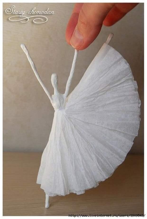 Балерины из салфеток