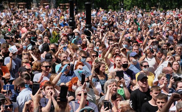 МВД назвало организаторов и численность митингов из-за Фургала ...