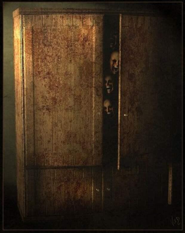 Шепот из шкафа. Страшная история.