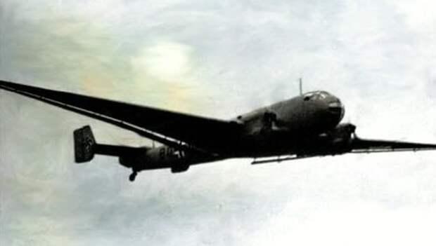 Юнкерс 86р-1 (Ju 86P-1) на боевом задании.                                                                                            Фото из свободного источника доработанное автором.