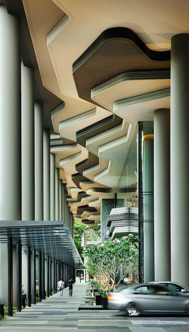 Parkroyal05 Уникальный сад на фасаде отеля в Сингапуре