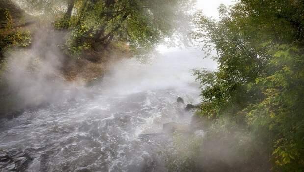Кипящая река в Перу